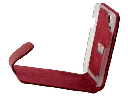 HTC Desire VC Genuine Leather Flip Case - Red