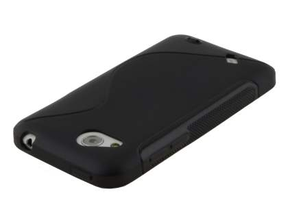 HTC Desire VC T328d Wave Case - Frosted Black/Black