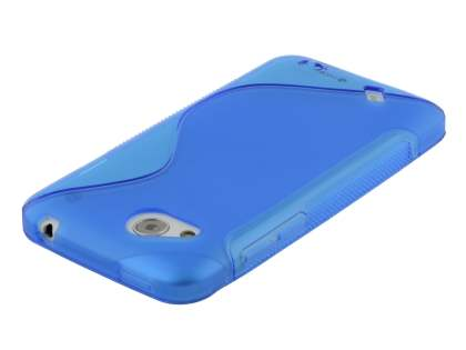 HTC Desire VC T328d Wave Case - Frosted Blue/Blue