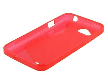 HTC Desire VC T328d Wave Case - Frosted Red/Red
