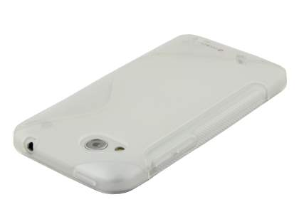HTC Desire VC T328d Wave Case - Frosted Clear/Clear