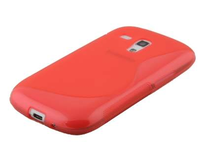 Wave Case for Samsung I8190 Galaxy S3 mini - Frosted red/red