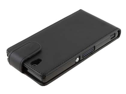 Sony Xperia Z Synthetic Leather Flip Case - Classic Black