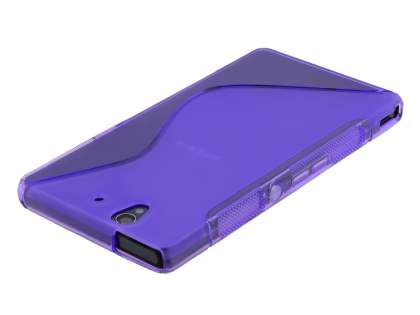 Wave Case for Sony Xperia Z - Frosted Purple/Purple