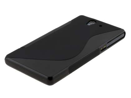 Wave Case for Sony Xperia Z - Frosted Black/Black