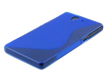 Wave Case for Sony Xperia Z - Frosted Blue/Blue