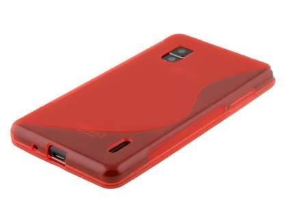Wave Case for LG Optimus G E975 - Frosted Red/Red