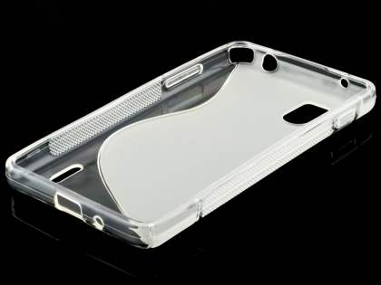 LG Optimus G E975 Wave Case - Frosted Clear/Clear