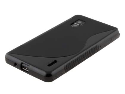 LG Optimus G E975 Wave Case - Frosted Black/Black
