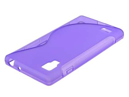 LG Optimus L9 P760 Wave Case - Frosted Purple/Purple