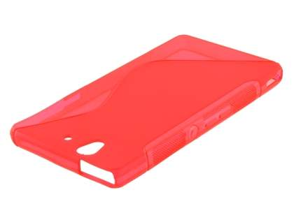 Sony Xperia Z Wave Case - Frosted Red/Red