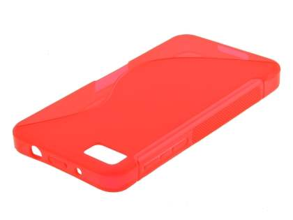 BlackBerry Z10 Wave Case - Frosted Red/Red