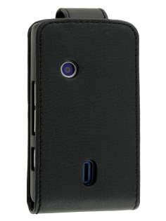 Synthetic Leather Flip Case for Sony Ericsson XPERIA X8 - Classic Black Leather Flip Case