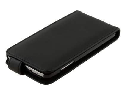 Samsung Ativ S I8750 Genuine Leather Flip Case - Classic Black