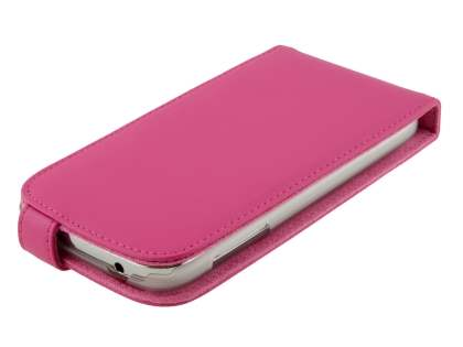 Samsung Galaxy Grand I9080 Genuine Leather Flip Case - Pink