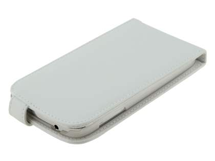 Samsung Galaxy Grand I9080 Genuine Leather Flip Case - Pearl White