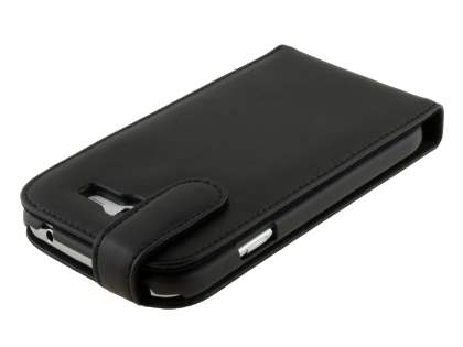Samsung Galaxy Grand I9080 Genuine Leather Flip Case - Classic Black