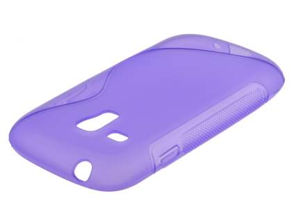 Wave Case for Samsung I8190 Galaxy S3 mini - Frosted Purple/Purple
