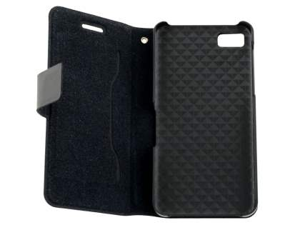BlackBerry Z10 Slim Genuine Leather Portfolio Case - Classic Black