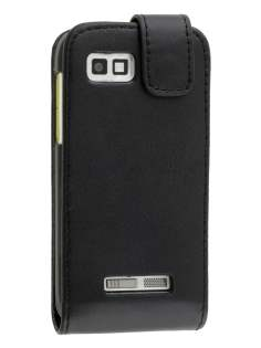 Motorola DEFY XT535 Synthetic Leather Flip Case - Classic Black