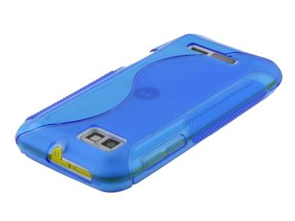 Wave Case for Motorola DEFY XT535 - Frosted Blue/Blue