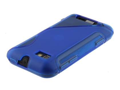 Motorola Defy Mini XT320 Wave Case - Frosted Blue/Blue