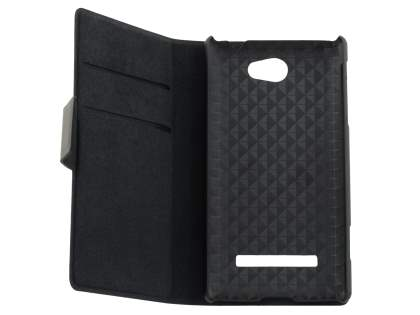 HTC Windows Phone 8S Slim Genuine Leather Portfolio Case - Classic Black