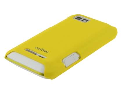 Vollter Motorola DEFY XT535 Ultra Slim Case plus Screen Protector - Canary Yellow