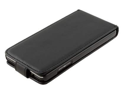 LG Optimus G E975 Synthetic Leather Flip Case - Classic Black