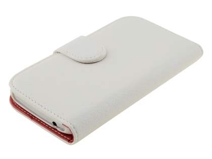 Synthetic Leather Wallet Case with Stand for Samsung Galaxy Grand I9080 - Pearl White