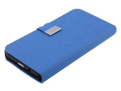 BlackBerry Z10 Synthetic Leather Wallet Case with Stand - Blue