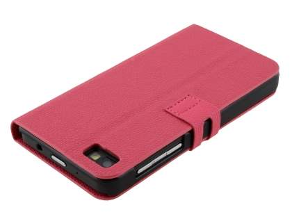 Synthetic Leather Wallet Case with Stand for BlackBerry Z10 - Pink