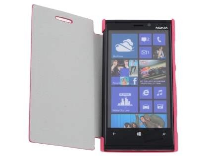 Slim Synthetic Leather Book-Style Flip Cover for Nokia Lumia 920 - Pink
