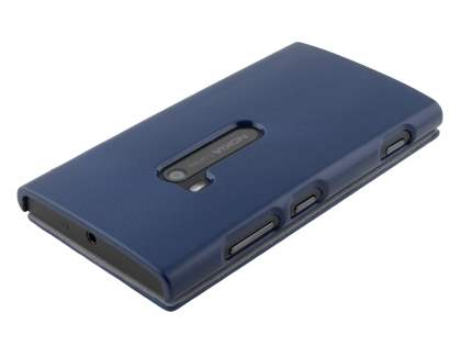 Slim Synthetic Leather Book-Style Flip Cover for Nokia Lumia 920 - Dark Blue