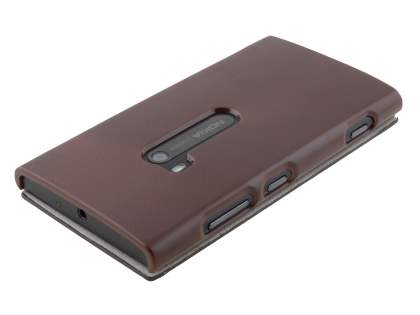Slim Synthetic Leather Book-Style Flip Cover for Nokia Lumia 920 - Dark Brown