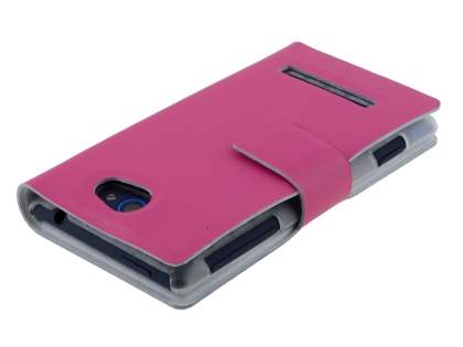 HTC Windows Phone 8S Slim Genuine Leather Portfolio Case - Pink