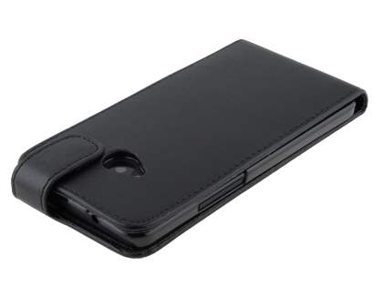 HTC One M7 801e Synthetic Leather Flip Case - Black