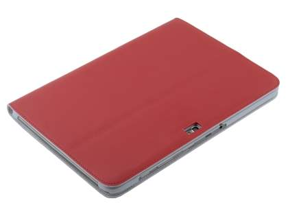 Premium Genuine Leather Slim Portfolio Case with Stand for Samsung Galaxy Note 10.1 - Red