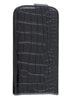 TS-CASE crocodile pattern Genuine leather Flip Case for Samsung I9300 Galaxy S3 - Classic Black