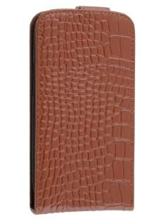 TS-CASE crocodile pattern Genuine leather Flip Case for Samsung I9300 Galaxy S3 - Brown