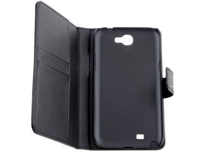 TS-CASE crocodile pattern Genuine leather Wallet Case for Samsung Galaxy Note II - Classic Black
