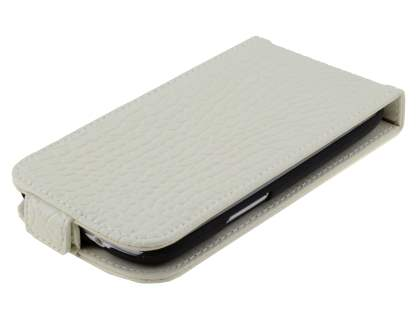 TS-CASE crocodile pattern Genuine leather Flip Case for Samsung I9300 Galaxy S3 - Pearl White