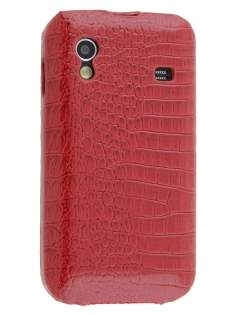 Crocodile Pattern Synthetic Leather Flip Case for Samsung Galaxy Ace S5830 - Red Leather Flip Case