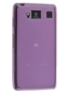 Frosted TPU Case for Motorola RAZR HD 4G XT925 - Frosted Pink Soft Cover