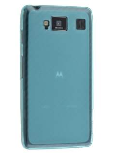Frosted TPU Case for Motorola RAZR HD 4G XT925 - Frosted Blue Soft Cover