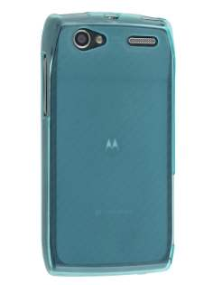 Frosted TPU Case for Motorola RAZR V XT885/MT887 - Frosted Blue Soft Cover