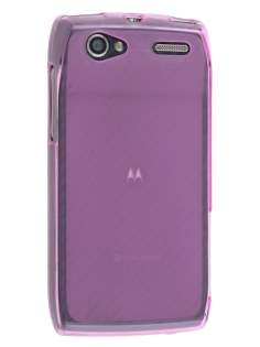 Frosted TPU Case for Motorola RAZR V XT885/MT887 - Frosted Pink Soft Cover