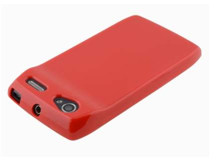 Frosted Colour TPU Gel Case for Motorola RAZR V XT885/MT887 - Red