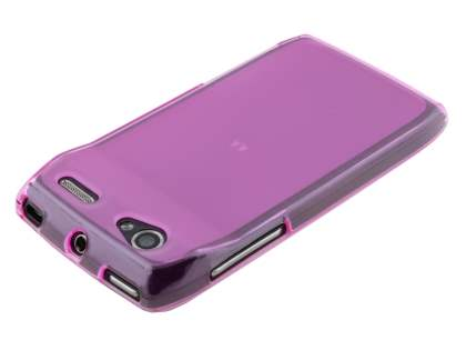 Motorola RAZR V XT885/MT887 Frosted TPU Case - Frosted Pink