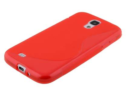 Samsung I9500 Galaxy S4 Wave Case - Frosted Red/Red